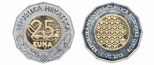 Croatia Currency 25 Kuna Coin